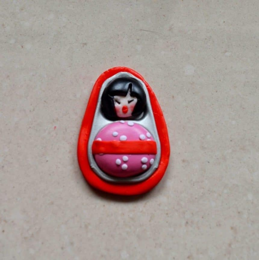 Make Figures With Polymer Clay Rings And Cans Simple