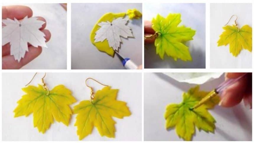 How to make ' autumn leaf ' earrings