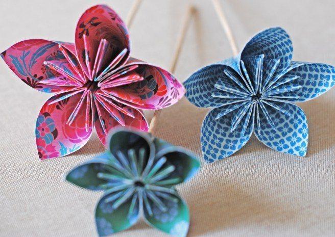 How to make origami kusudama flowers simple craft ideas bag 22 mightylinksfo