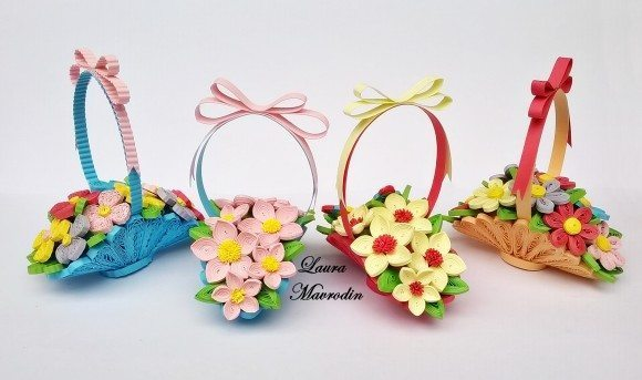 Flowers Basket Making : How to make basket of flowers bouquets simple craft ideas