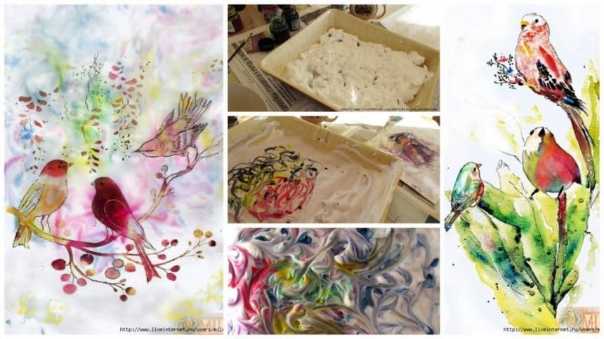 How to drawings using shaving foam