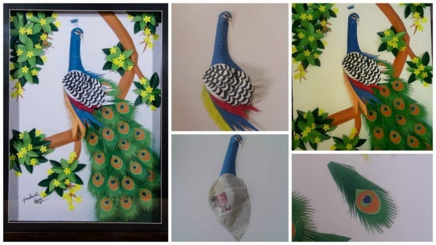 How To Make A Craft Peacock