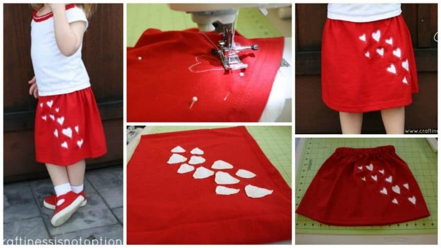 How to make blowing kisses skirt