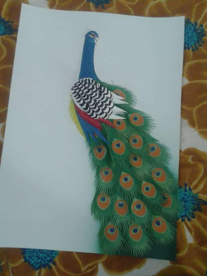 Peacock paper art - photo#21
