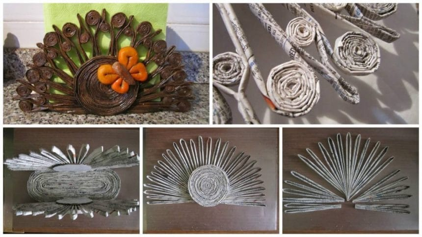 Napkin holders of recycled paper