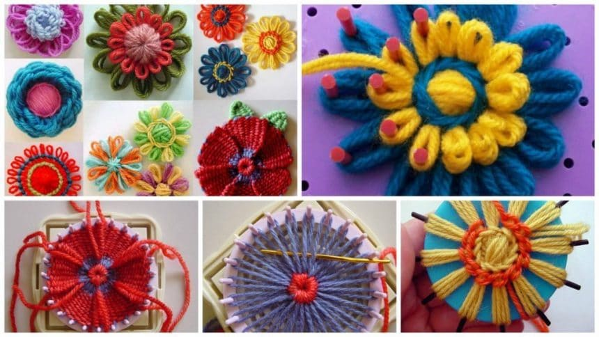 How to make different type of loom flower