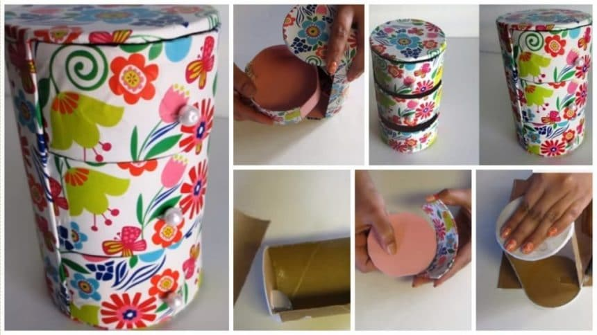 How to make  Cute mini 3 drawers organizer