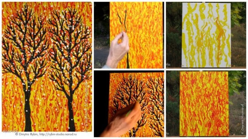 How to draw a spontaneous acrylic painting