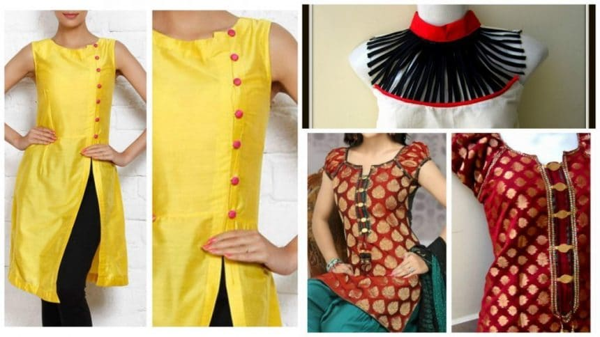 How to make different types of kurthi neck