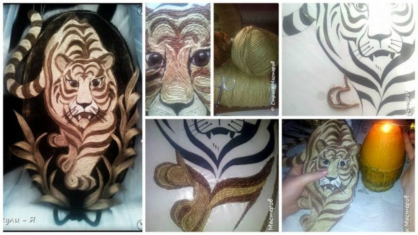 How to make tiger from filigree