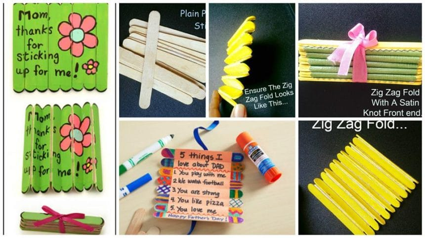 how to make folding craft stick card