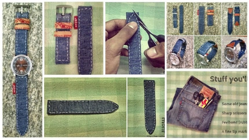 How to make strap watches from old jeans