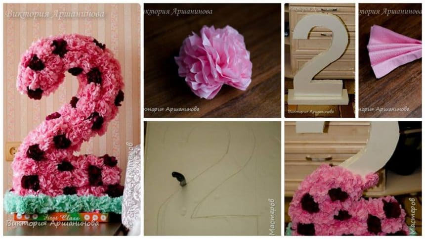 How to make decorative number for birthday