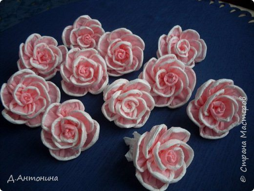 How to make roses from ordinary paper napkin simple craft ideas materials required ordinary paper napkins two colors scissors thread and a good mood mightylinksfo