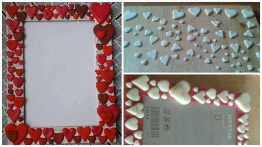 How to make picture holders with many hearts