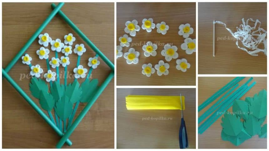 How to make flower wall art