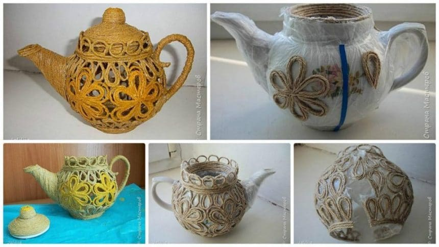 How to make  jute kettle technique of filigree