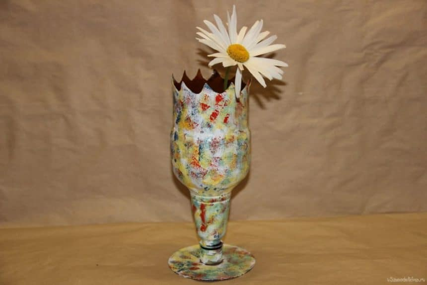 vases of plastic bottles