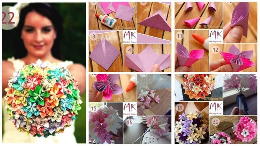 How to make bridal bouquet in kusuda technology