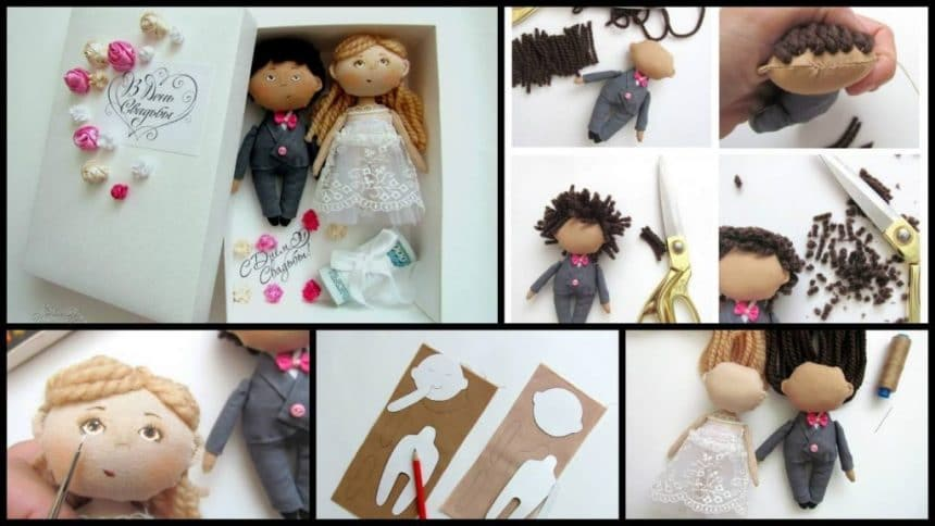 How to make gift box for money with dolls, newlyweds