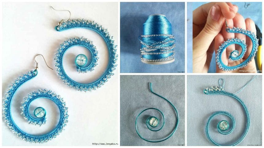 How to make summer earrings