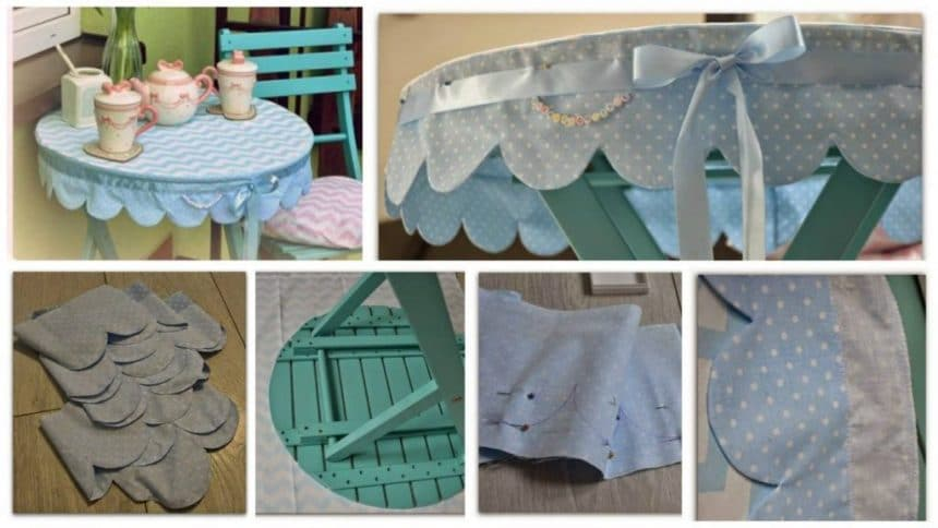 How to make tablecloth on the balcony table
