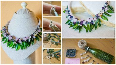 beads-leaves necklace