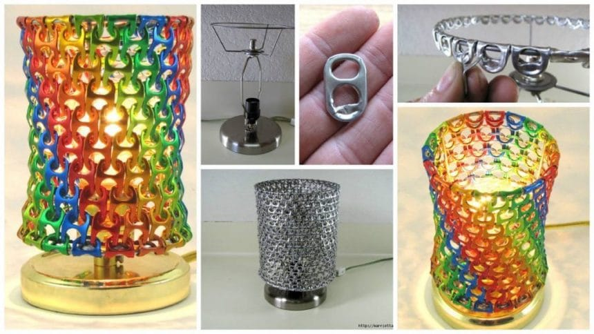 How to make lamp from aluminum rings