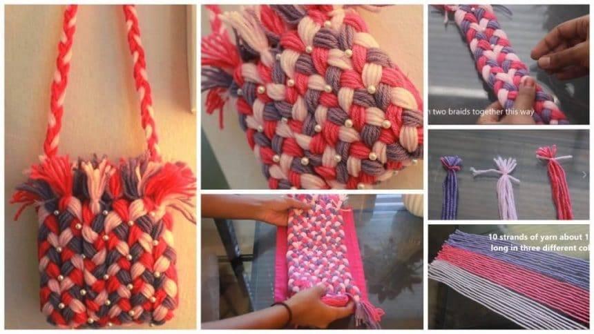 How to make purse using yarn