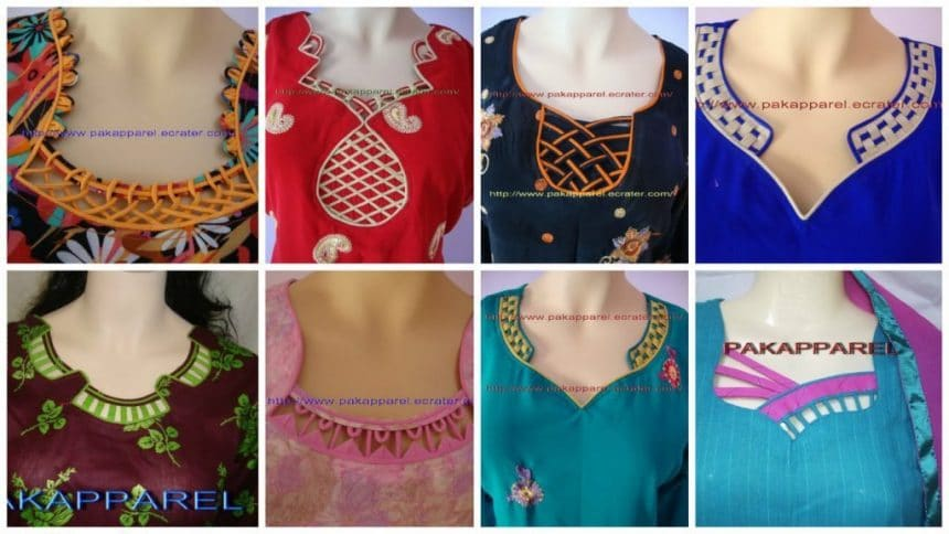How To Make Different Types Of Kurthi Neck Patterns Simple Craft Ideas