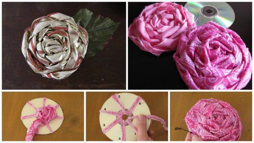 How to make rose from fabric