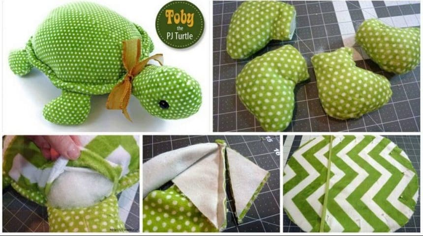How to make toby the stuffed turtle