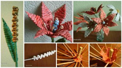 How to make flower from old newspapers.
