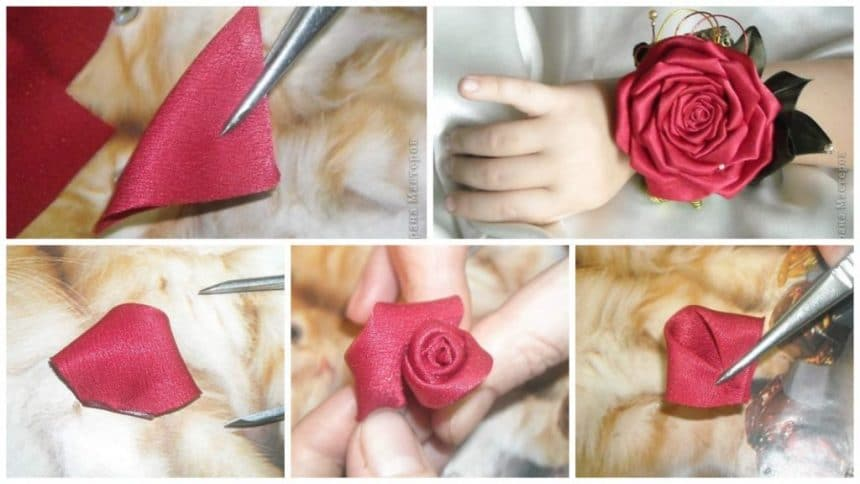 How to make kanzashi rose