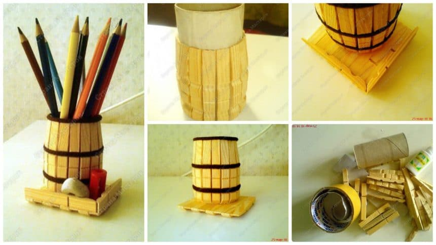 How to make organizer for pens and pencils
