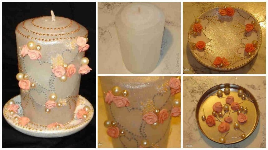 How to make decorative wedding candle