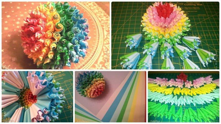 How to make rainbow flower