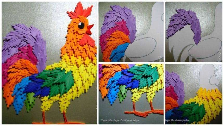 "How to make ""Wonder Cock"" from quilling"