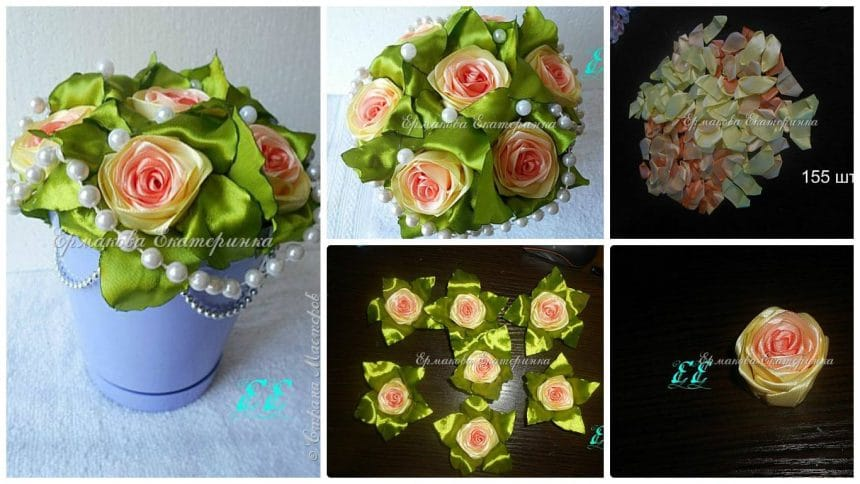 How to make rose with pot