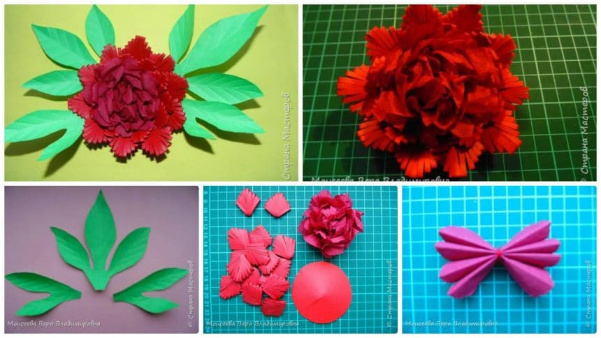peony from quilling