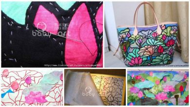 glass painted package bag