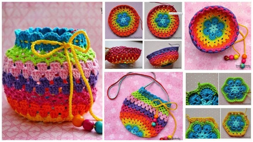 How to make knit bag for girls