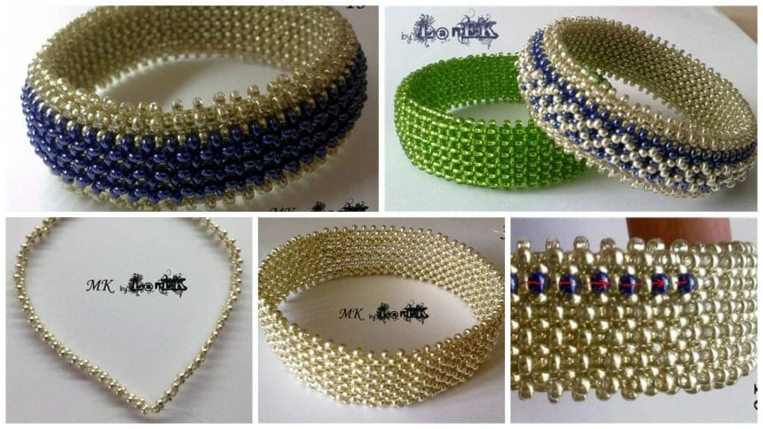 How to make bangle from bead