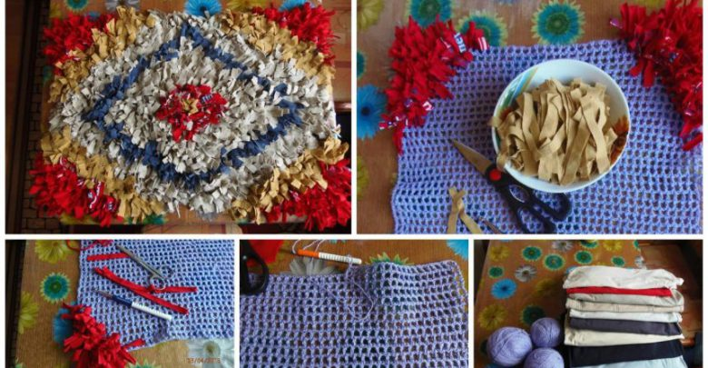 How to make mat from old t shirts simple craft ideas for Craft ideas for old t shirts