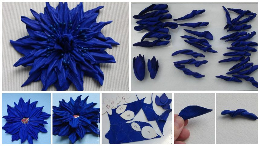 How to make bright terry flower from leather