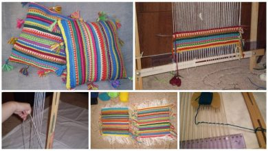 pillows from rustic style
