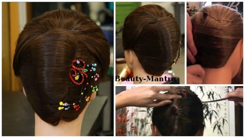 How To Make French Roll Hairstyle Simple Craft Ideas