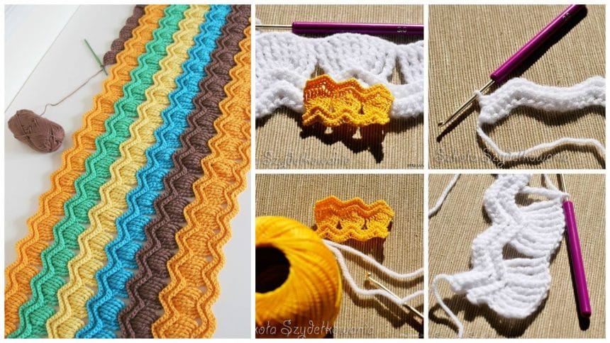 How to make zig-zag pattern from knitting