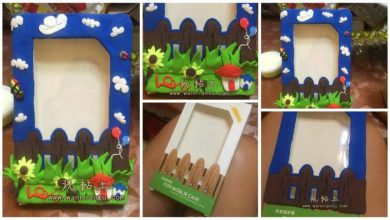 Creative clay practical photo frame
