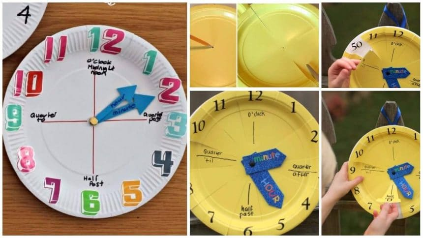 How To Make A Paper Plate Clock